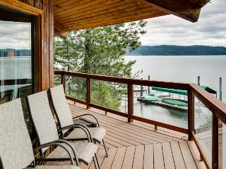 Unique home w/ stunning lakefront views, a wrap-around deck & a private dock!, Harrison