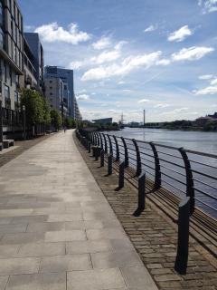 Riverside walkway.