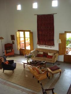 Really big sitting room at the cortijo