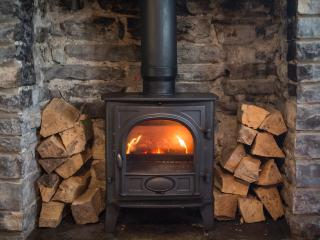 Wood burner for a cosy winter evening relaxing
