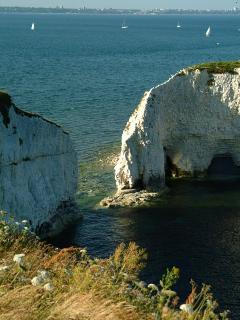 Old Harry rocks off Studland bay (5km from house)