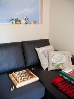 sala lettura/giochi con terrazzo protetto