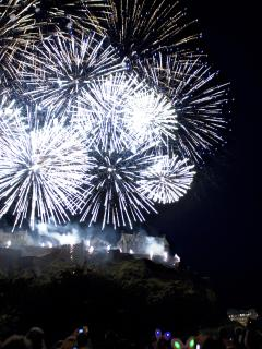 Festival Fireworks viewed from Princes Street