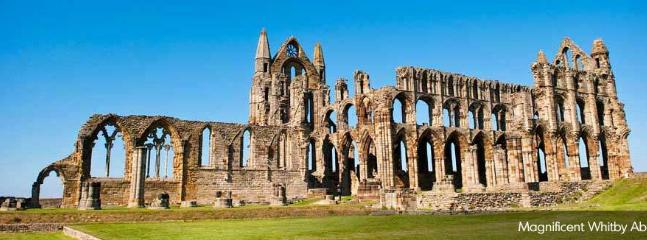 Whitby Abbey ruins- visit whitby a quiant and buzzing seaside town, lots to see and do.