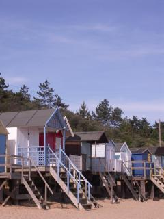 Pretty beach huts on Wells beach