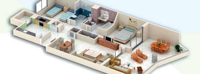 Plano en 3D del piso
