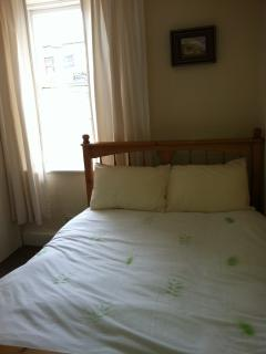 One of the spacious double beds.