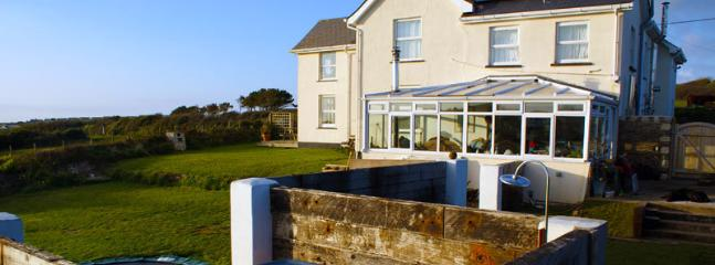 Seashells has stunning views of Crantock Bay and an amazing garden for evening relaxation