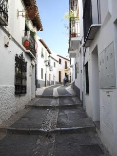 The street where the house is located
