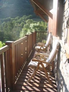 Terraza, relájate, disfruta de la montaña, tómate un respiro...