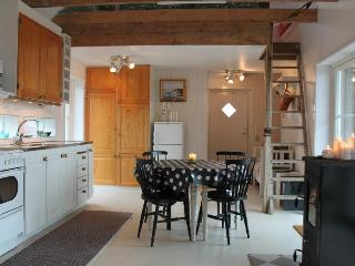 Open, spacious kitchen & living room