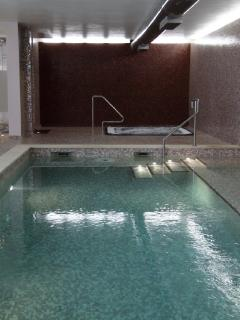 Indoor pool with jacuzzi, sauna and steam room