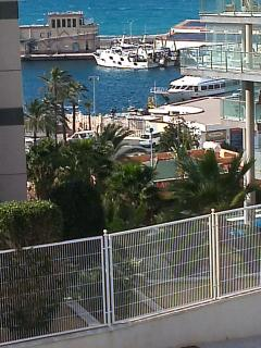 View of the port from the balcony