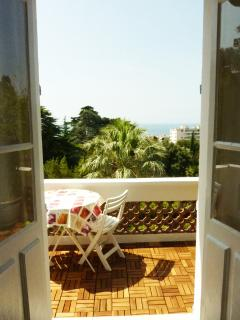 The sunny terrace - enjoy your breakfast with the green parrots !