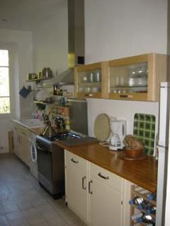 The spacious and well equipped kitchen