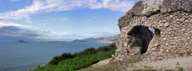 The Gulf of Gaeta seen from Roman 'Cisterna', in the Natural Park, lovely walks starting n