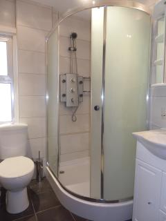 Modern shower room with Jacuzzi Power Shower