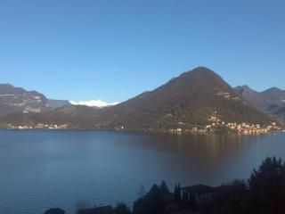 View of Monte Isola by the ancient Via Valeriana