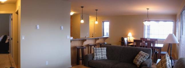 WINDFALL LODGE : Enjoy the open concept kitchen, dining room, and living room.