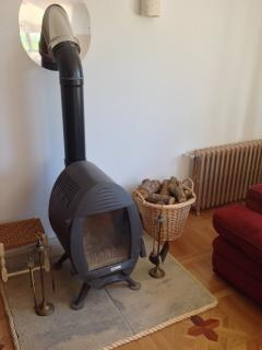 'Oxo' woodburner in the lounge