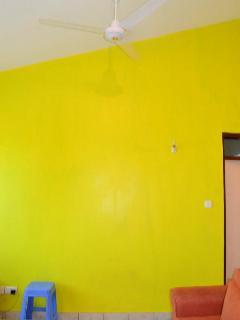 Sneak Peak..living room in warm summer orange, living in colour, keeping it cool.
