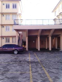 ample parking...view of the raised pool..
