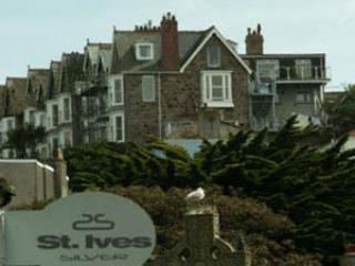 View of Pednolver Apartments from St Ives town