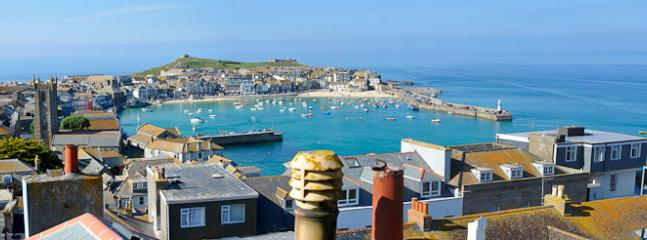 View of St Ives and harbour from lounge