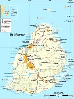 Position Ville Albion sur la carte de Maurice.