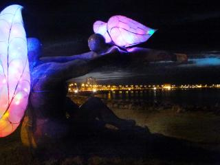 Venus and Cupid Sculptor - A Winters Scene over the Bay
