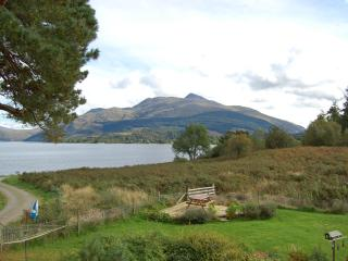 Patio and Ben Cruachan from bedroom