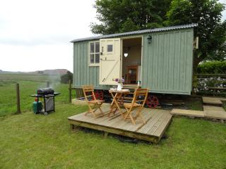 Romantic Shepherds Hut with countryside views