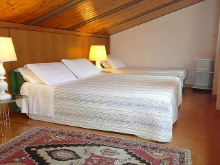 Bedroom: The bed is 1 meter wide and 70 cm wide it is 2 meters and 6 centimeters long. The third bed