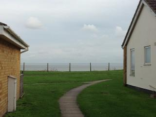 View of the sea from decking
