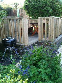 Decking area, perfect spot for relaxing in the Garden