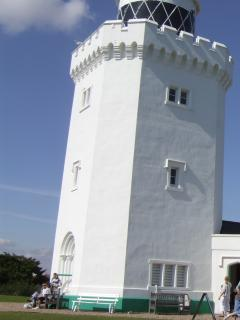 South Foreland Lighthouse on the cliff top once used to warn ships of the Goodwin sands