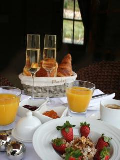 The Champagne Breakfast in our Premier Package for that Special Occasion
