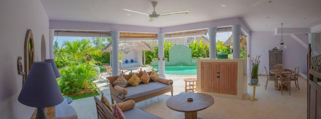 Each of our villas features open plan living, kitchen and dining fronting the pool.