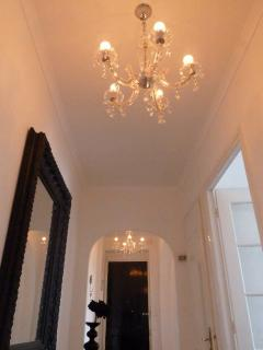 Lovely chandeliers throughout