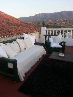 Roof terrace with 3  seater sofa to sit and relax