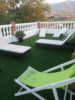 Roof top garden with sun beds beautiful views
