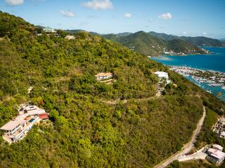 Havers Estate with the country road to the villa. Nanny Cay Marina is close by.