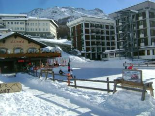 Cervinia center next to slopes