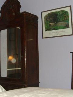 double bedroom, vintage cabinet