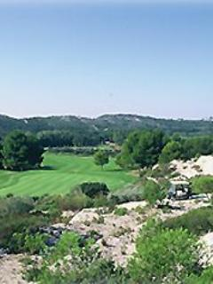 The stunning Alpilles from the local golf course