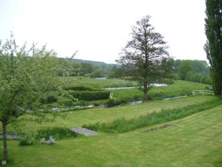 view from cottage on the river Risle