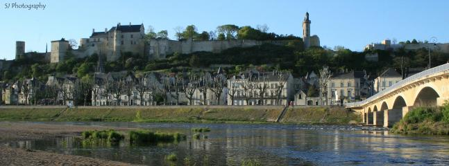 Chinon with a beautiful 'forteresse', river, shops and restaurants.