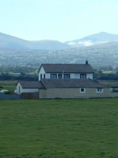 The house with Snowdonia in the background
