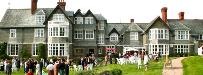 Wedding reception at Plas Dinam