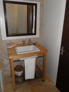 second toilet with bigger shower